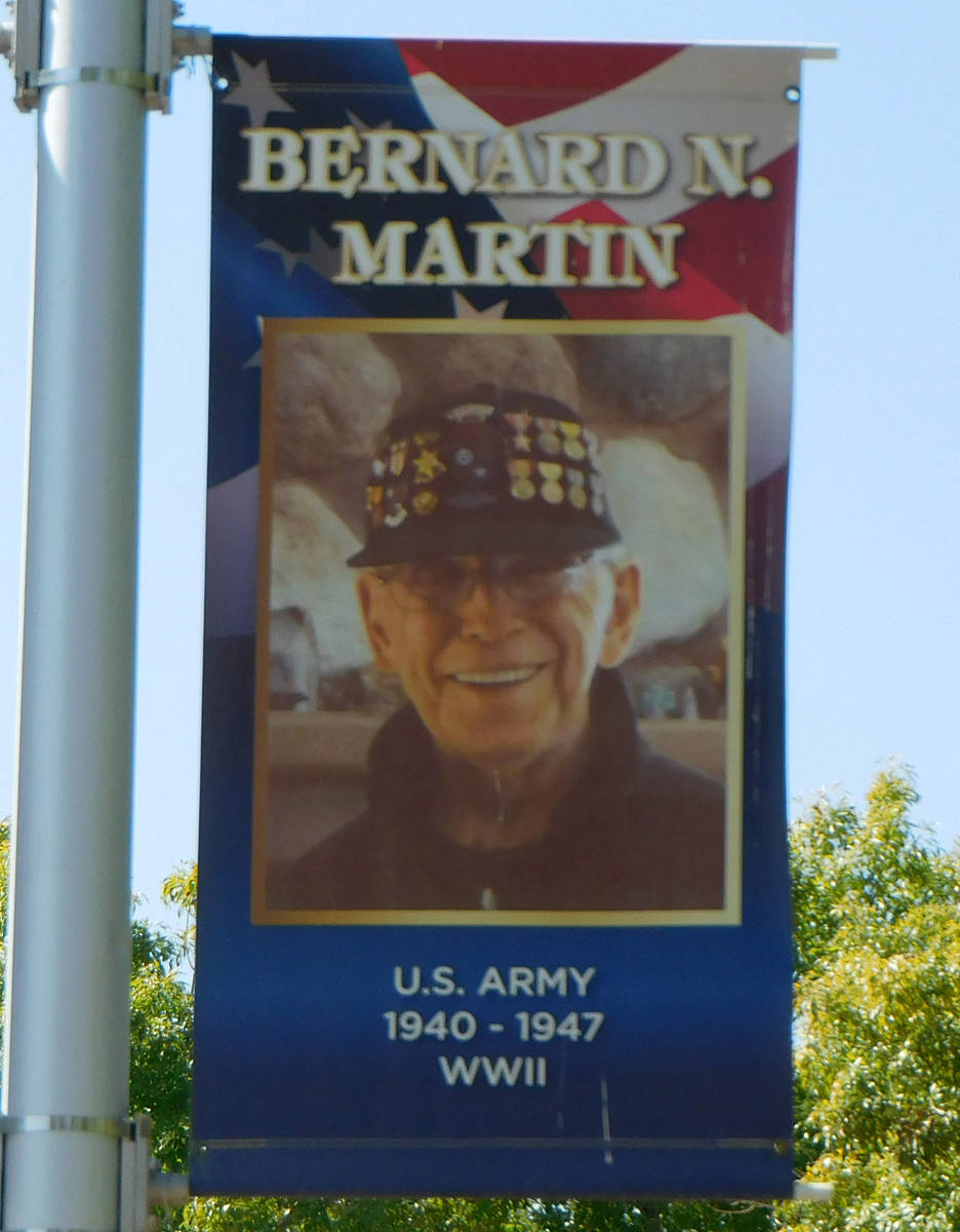 "Robin Hebrock/Pahrump Valley Times Late Pahrump resident Bernard ""Marty"" Martin was a member of ..."