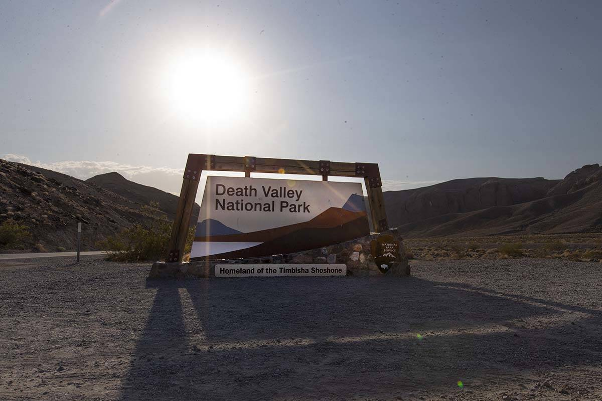 Ellen Schmidt/Las Vegas Review-Journal Death Valley National Park reached 127 degrees on Monday ...