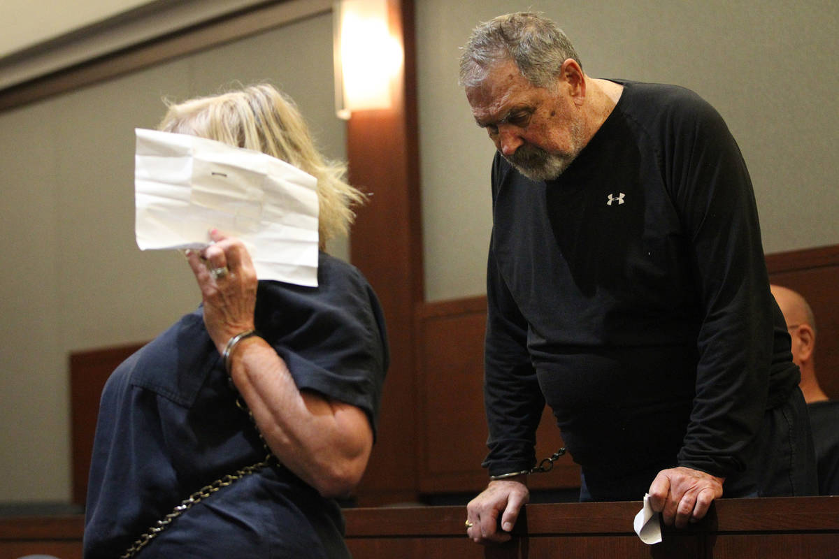 Patricia Chappuis, left, with her husband, Marcel, appear for a court hearing at the Regional J ...