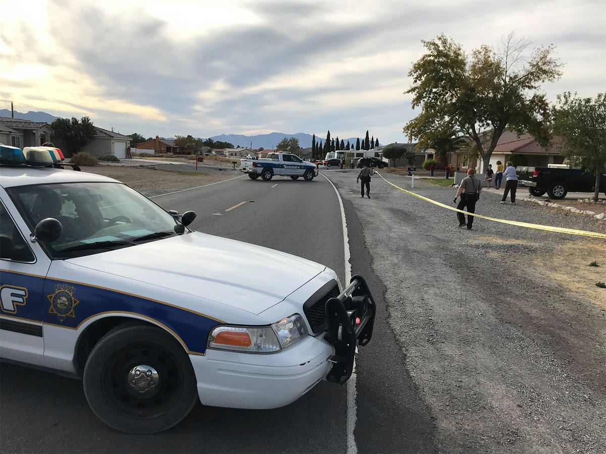 Special to the Pahrump Valley Times Nye County Sheriff's Office deputies and detectives are inv ...