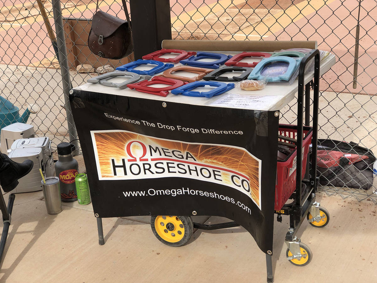 Tom Rysinski/Pahrump Valley Times A vendor displays items for sale Saturday at the Western Open ...