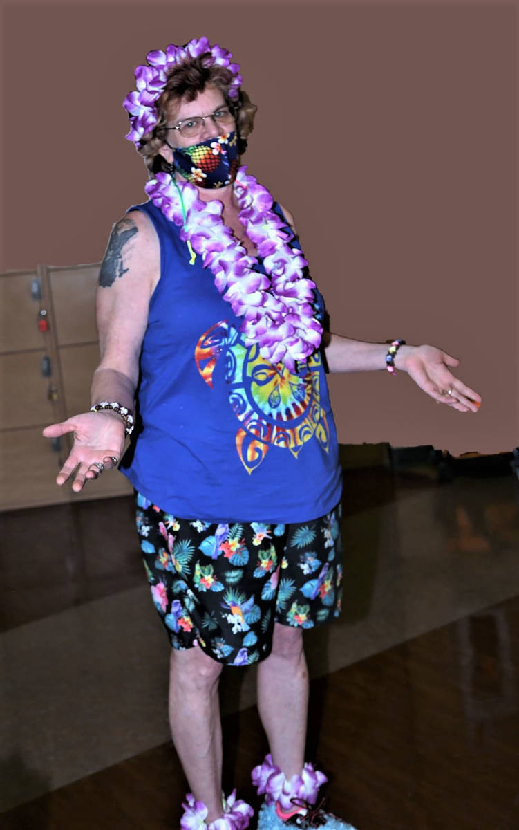 Randy Gulley/Special to the Pahrump Valley Times Marilyn Miller shows off her festive look duri ...