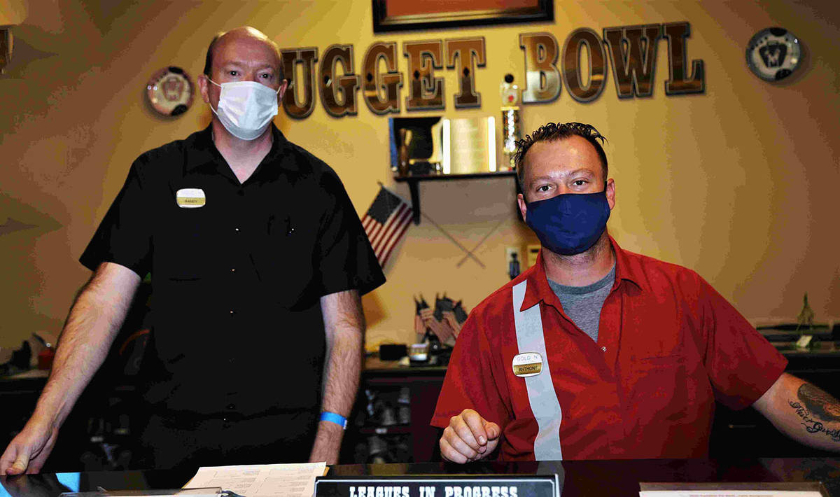Randy Gulley/Special to the Pahrump Valley Times Randy Cardill, left, and Anthony Matassa work ...