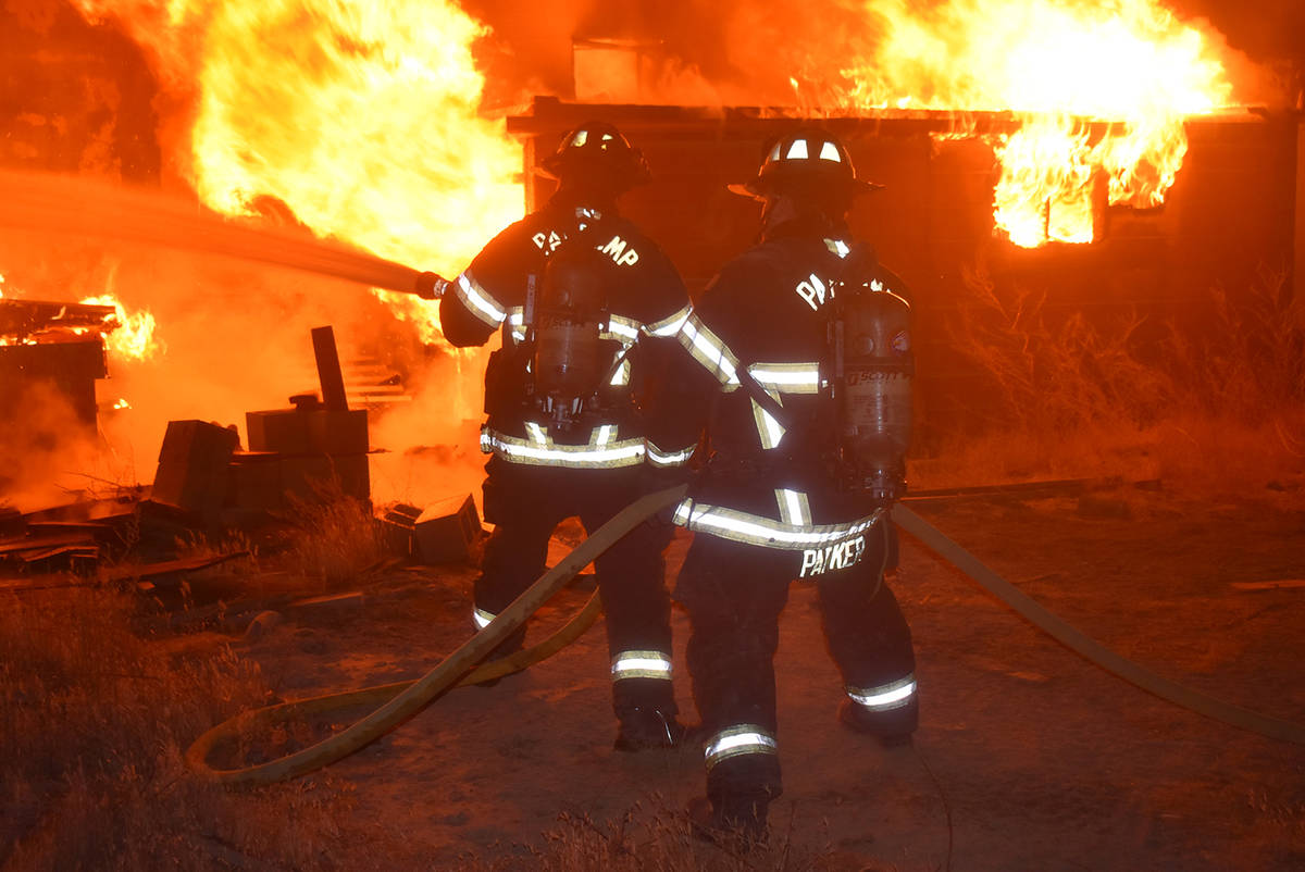 Special to the Pahrump Valley Times On Friday, Oct. 23, fire crews responded to a structure fir ...