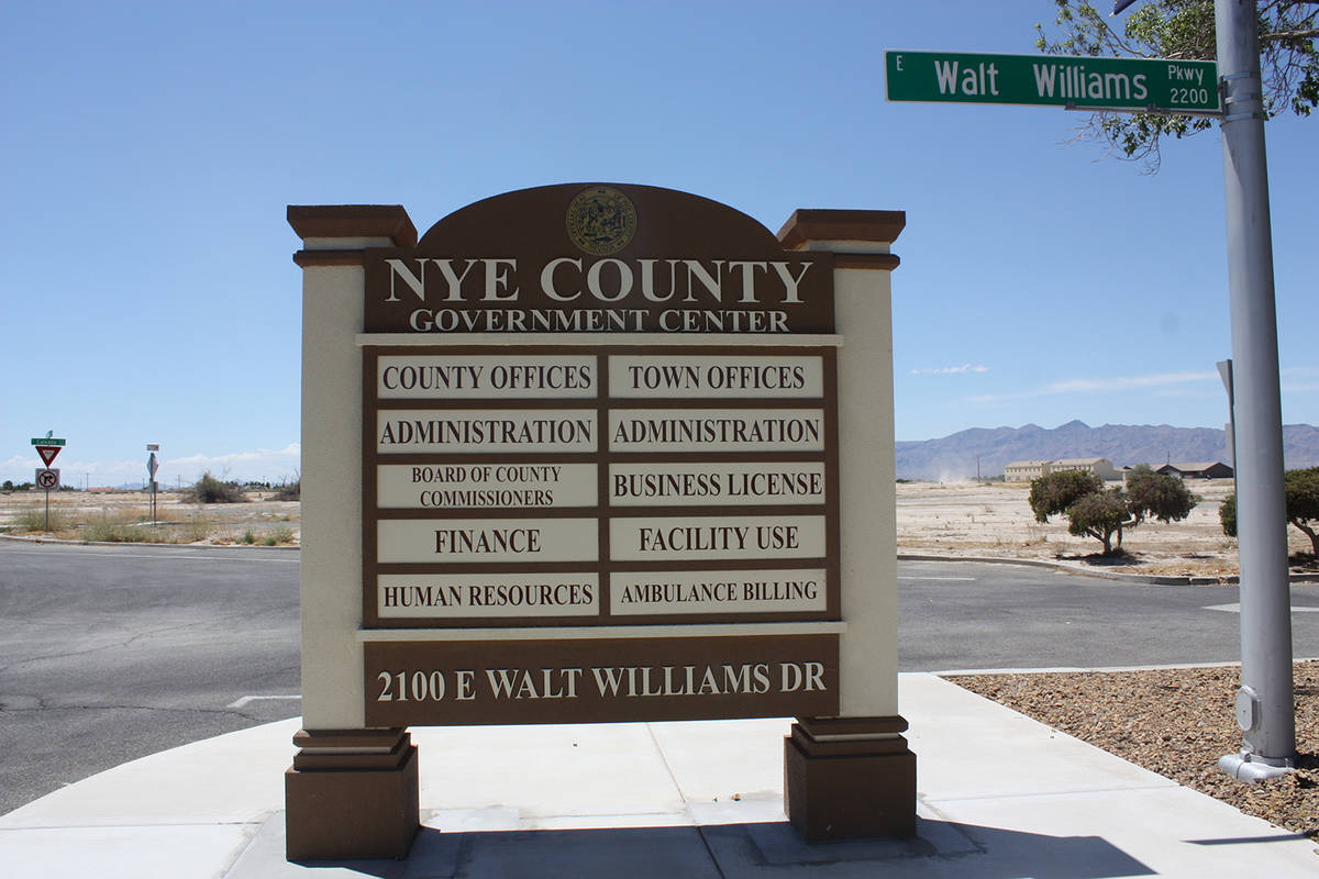 Robin Hebrock/Pahrump Valley Times Nye County and town of Pahrump offices located at 2100 E. Wa ...
