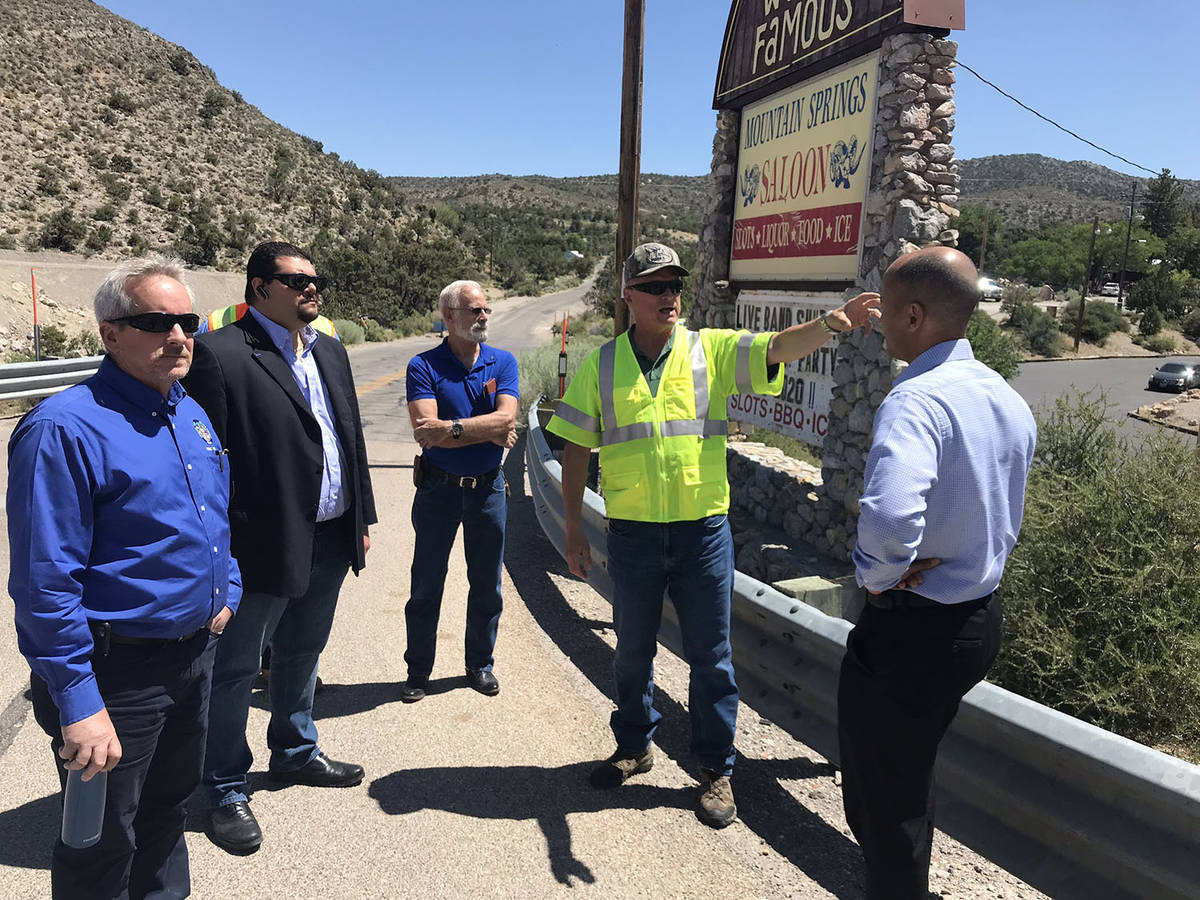 Special to the Pahrump Valley Times County officials were guests of the Nevada Department of Tr ...
