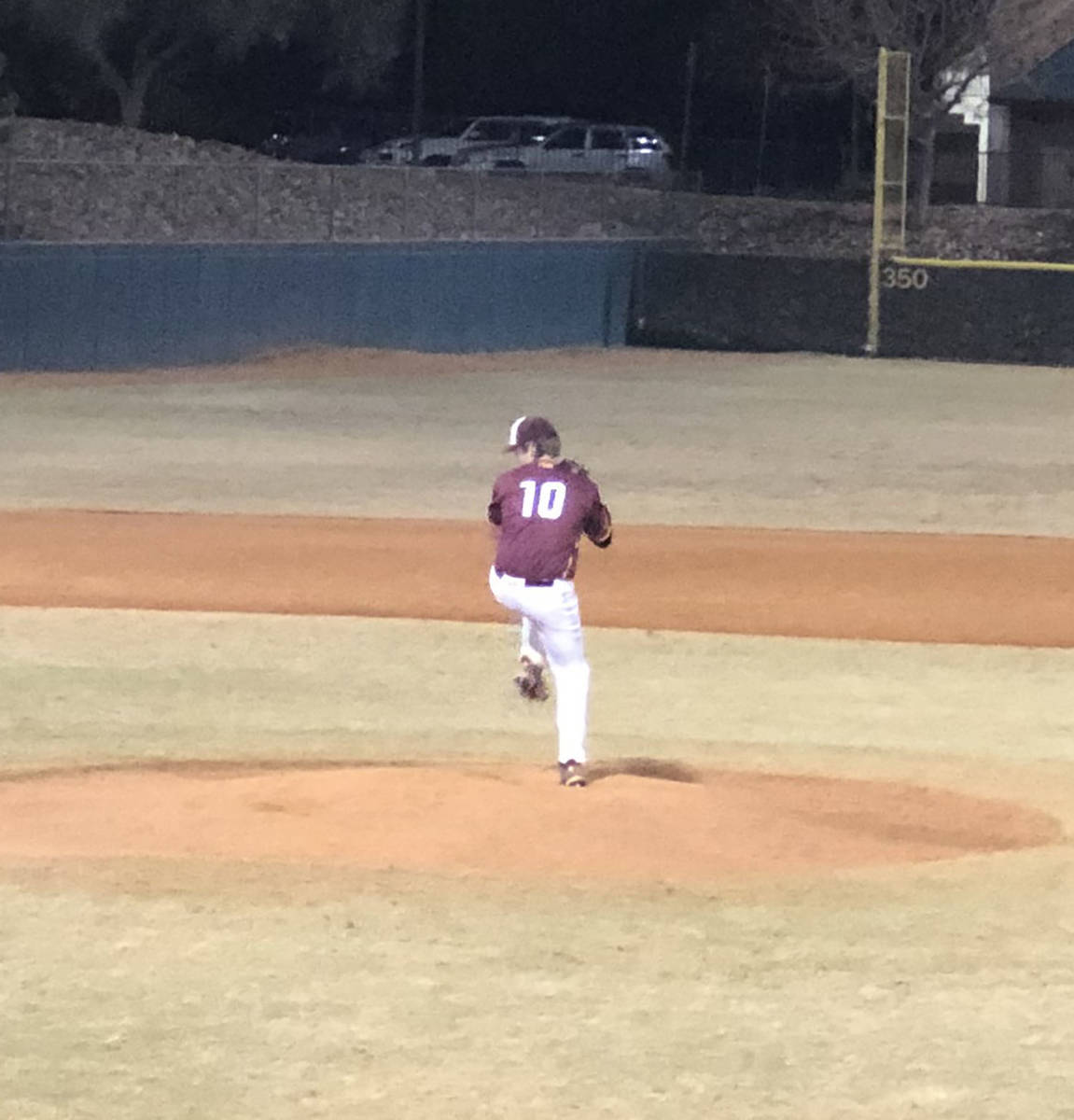 Tom Rysinski/Pahrump Valley Times Starting pitcher Jake Riding was outstanding Friday night for ...