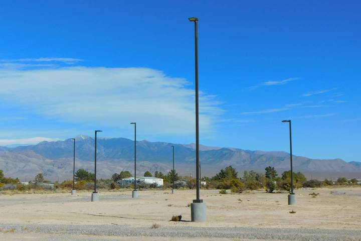Robin Hebrock/Pahrump Valley Times Taken Wednesday, Nov. 18, this photo shows the lighting that ...