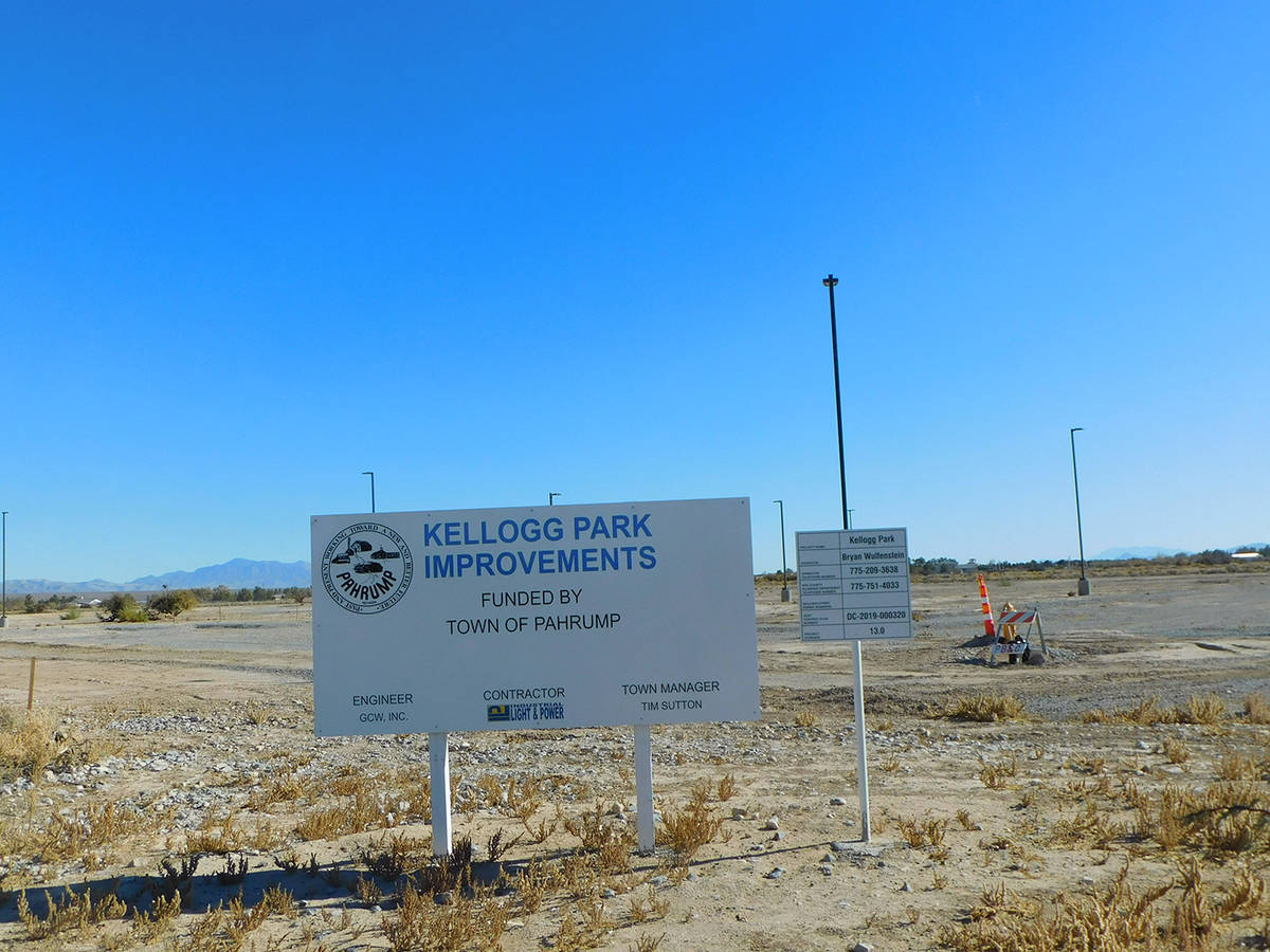 Robin Hebrock/Pahrump Valley Times Kellogg Park is located on two 40-acre parcels at Squaw Vall ...