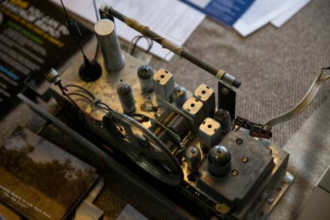 Erik Verduzco/Las Vegas Review-Journal A radio from the late 1940s on display during Radio Day, ...
