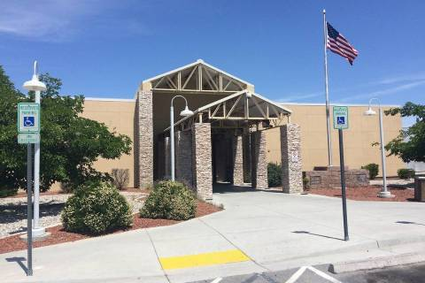 The Nye County Courthouse in Pahrump is home to Pahrump Justice Court, which has changed its op ...