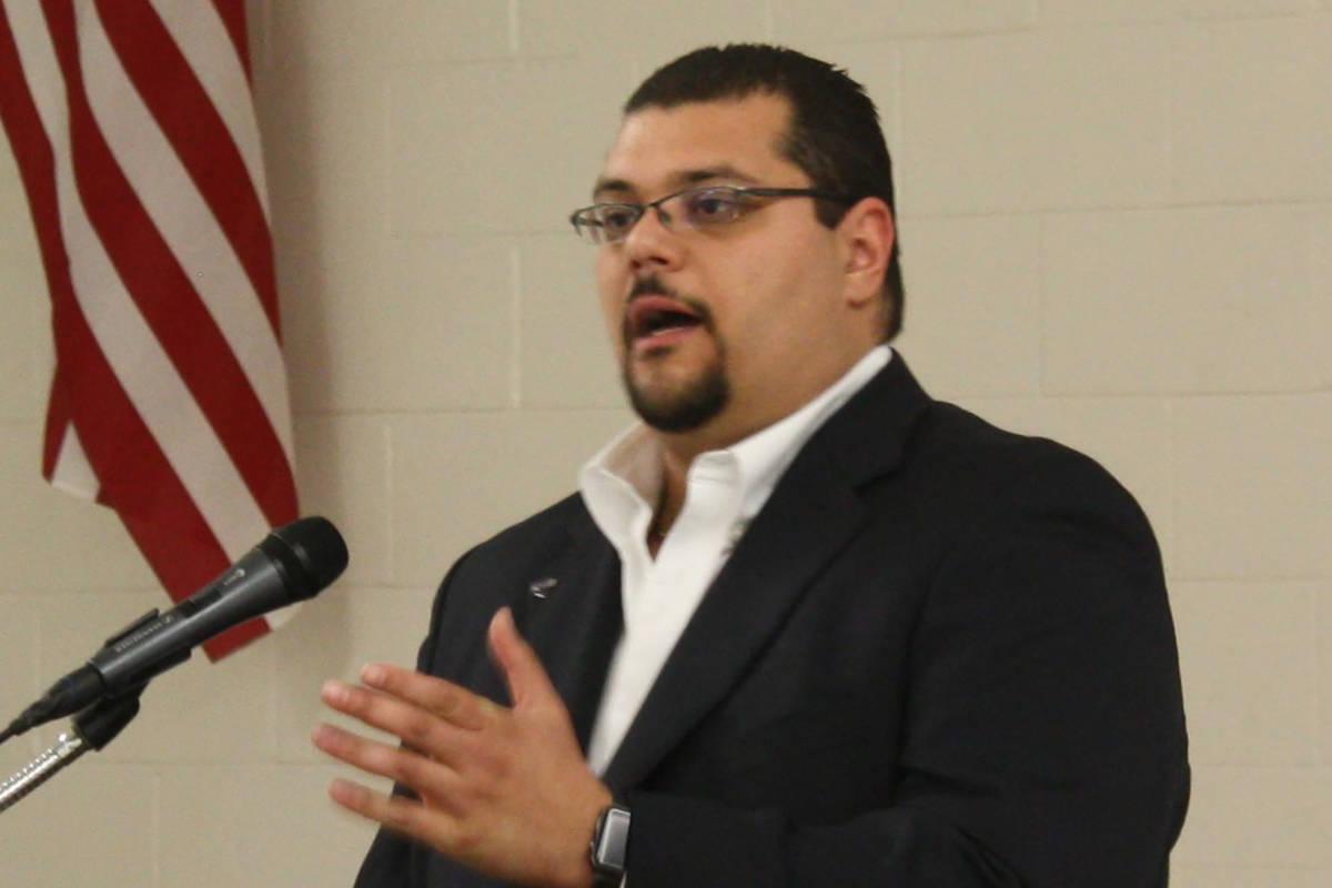 Nye County Commissioner Leo Blundo (Robin Hebrock/Pahrump Valley Times)