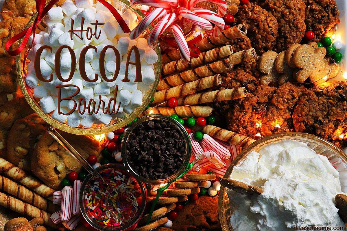 Patti Diamond/Special to the Pahrump Valley Times A hot cocoa board is perfect to set out while ...