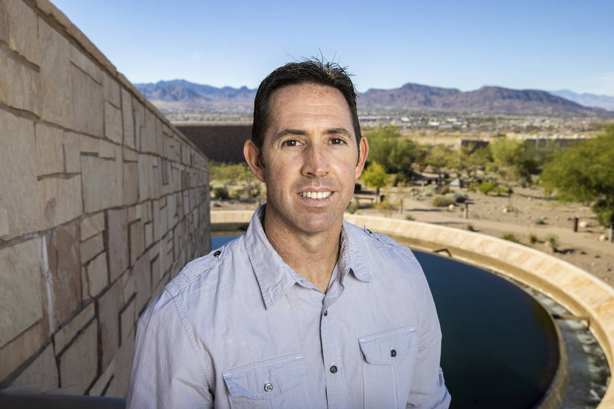 Daniel Gerrity, a microbiologist for the Southern Nevada Water Authority, on Wednesday, Nov. 18 ...