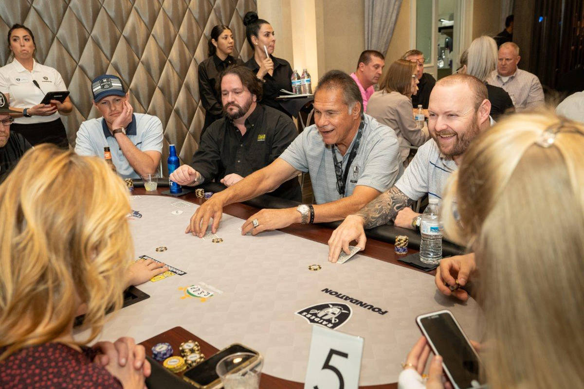 Special to the Pahrump Valley Times Former Raiders quarterback Jim Plunkett during a Raiders Fo ...