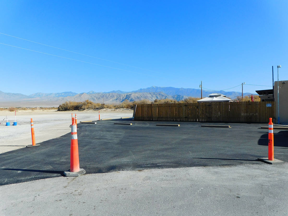 Robin Hebrock/Pahrump Valley Times Taken the morning of Dec. 3, this shows the completed sectio ...