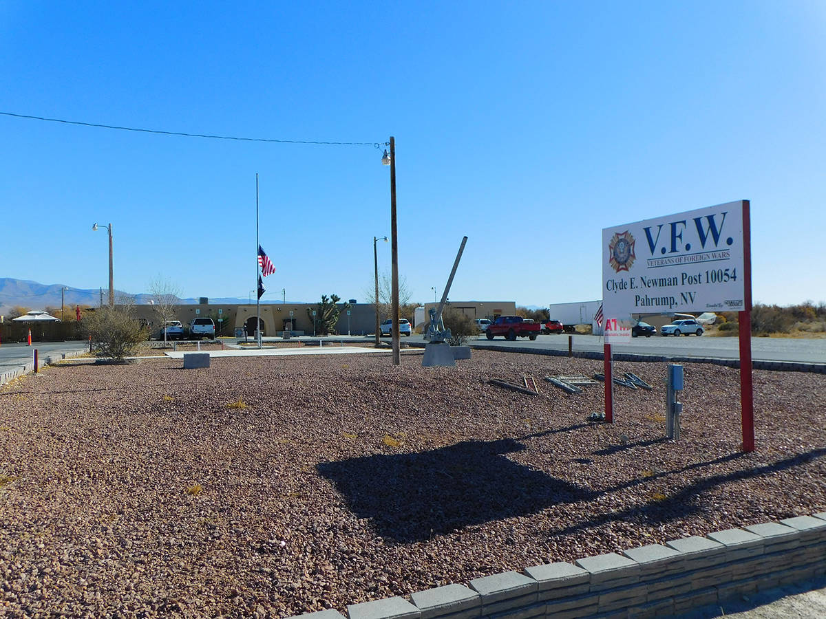 Robin Hebrock/Pahrump Valley Times The VFW Post #10054 is located at 4651 Homestead Road in Pah ...