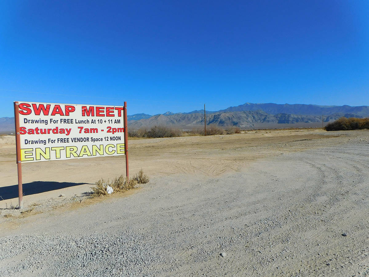 Robin Hebrock/Pahrump Valley Times The bare dirt that surrounds the Swap Meet grounds at the VF ...