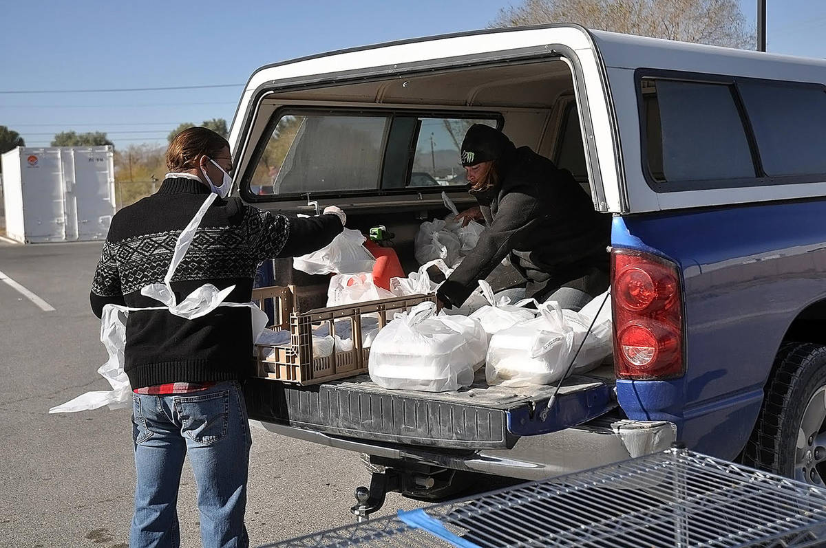 Horace Langford Jr./Pahrump Valley Times The Pahrump Holiday Task Force's Thanksgiving efforts ...