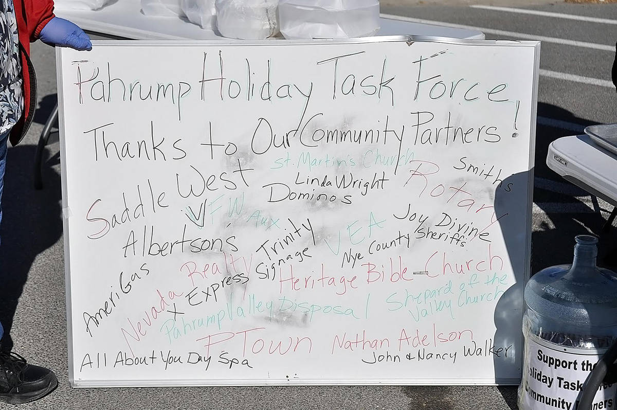 Horace Langford Jr./Pahrump Valley Times The Pahrump Holiday Task Force was sure to pay tribute ...