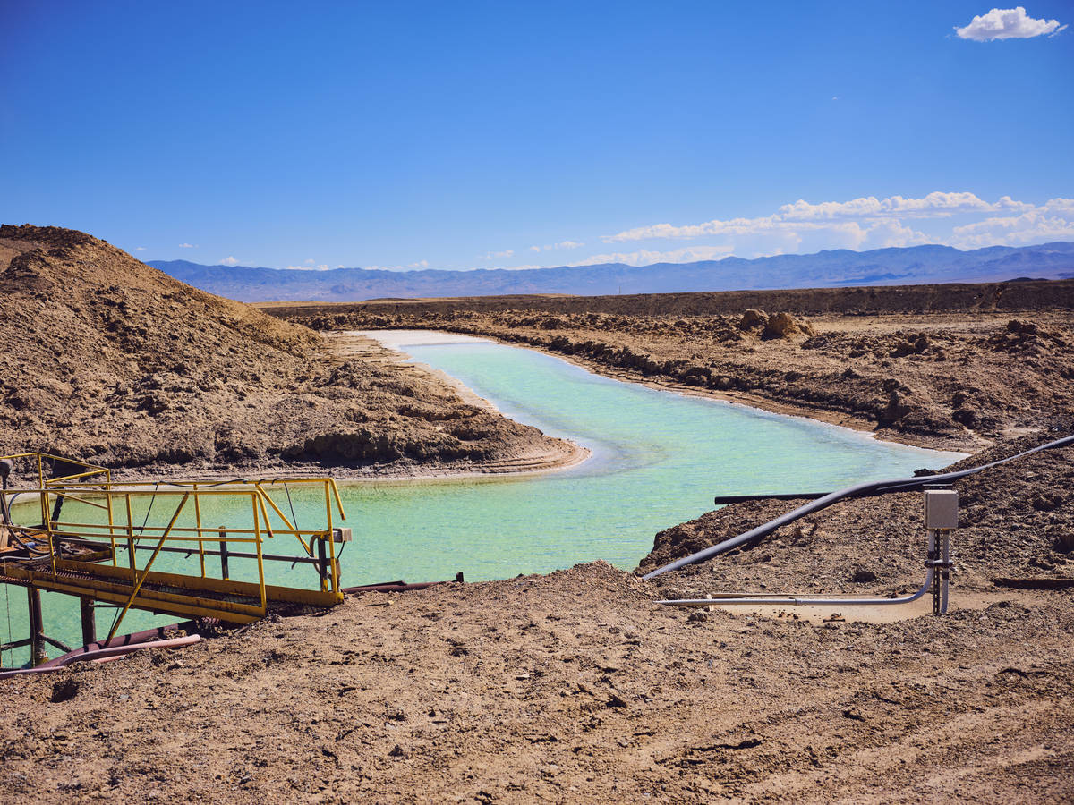 Getty Images Pictured are the brine pools for lithium carbonate mining in Silver Peak, Nevada. ...