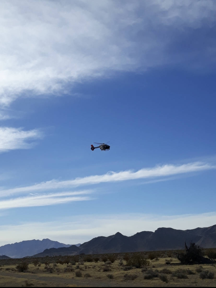 Nye County Sheriff's Office The Las Vegas Metropolitan Police Department sent in a helicopter ...
