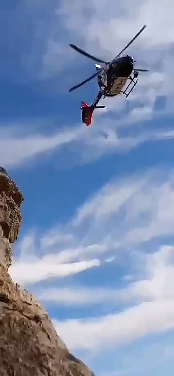 Nic Couturr/Special to the Pahrump Valley Times A screenshot of a video submitted by Nic Coutu ...