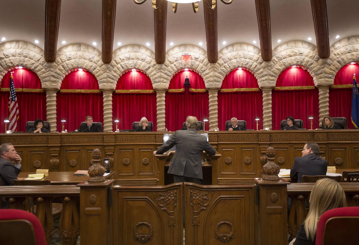 The Nevada Supreme Court. (Rachel Aston Las Vegas Review-Journal)