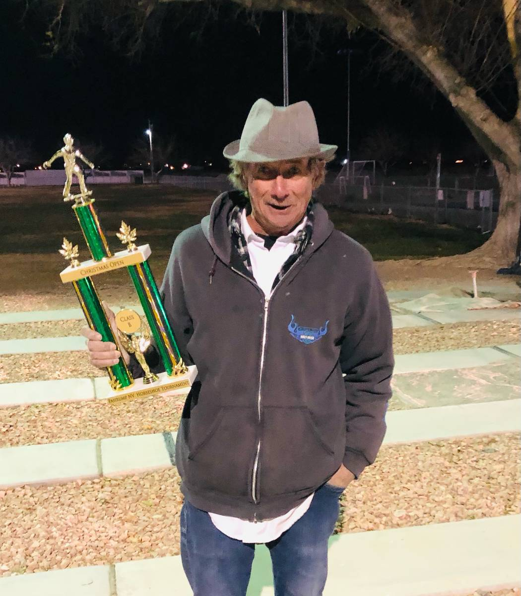 Lathan Dilger/Special to the Pahrump Valley Times Christmas Tree Open B Division champion Randy ...
