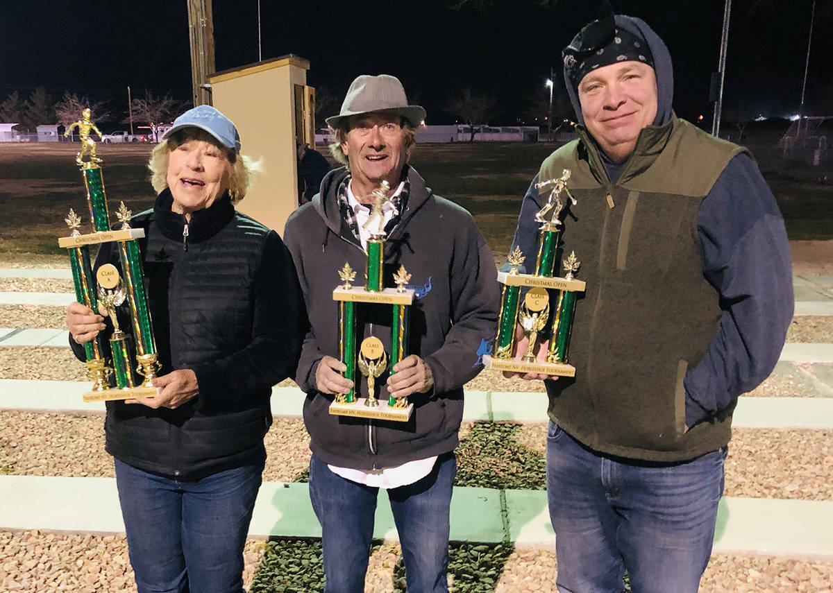 Lathan Dilger/Special to the Pahrump Valley Times From left, tournament champion Ellie Miller, ...