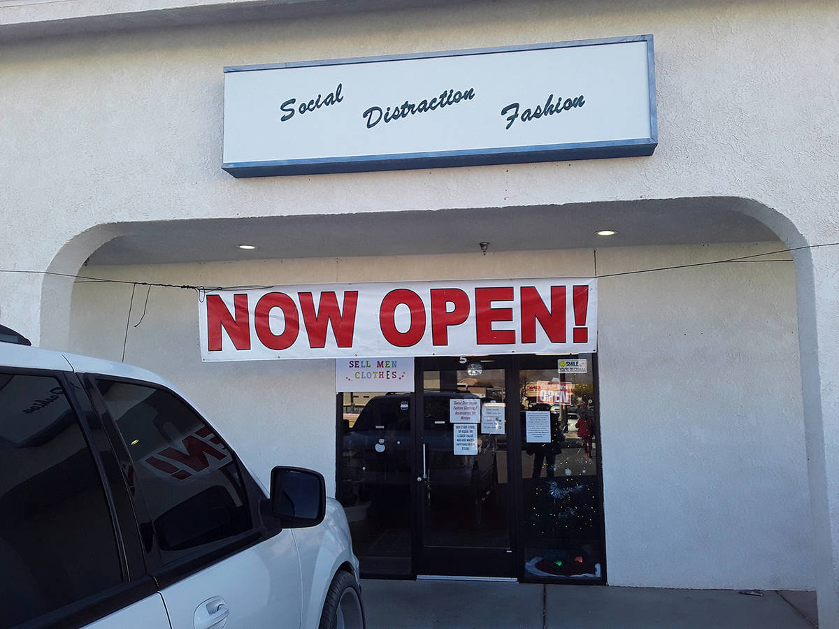 Selwyn Harris/Pahrump Valley Times Owner Ashley Rice, from Las Vegas, opened her store located ...