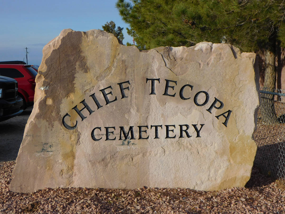 Robin Hebrock/Pahrump Valley Times The Chief Tecopa Cemetery is located at 751 East Street in P ...