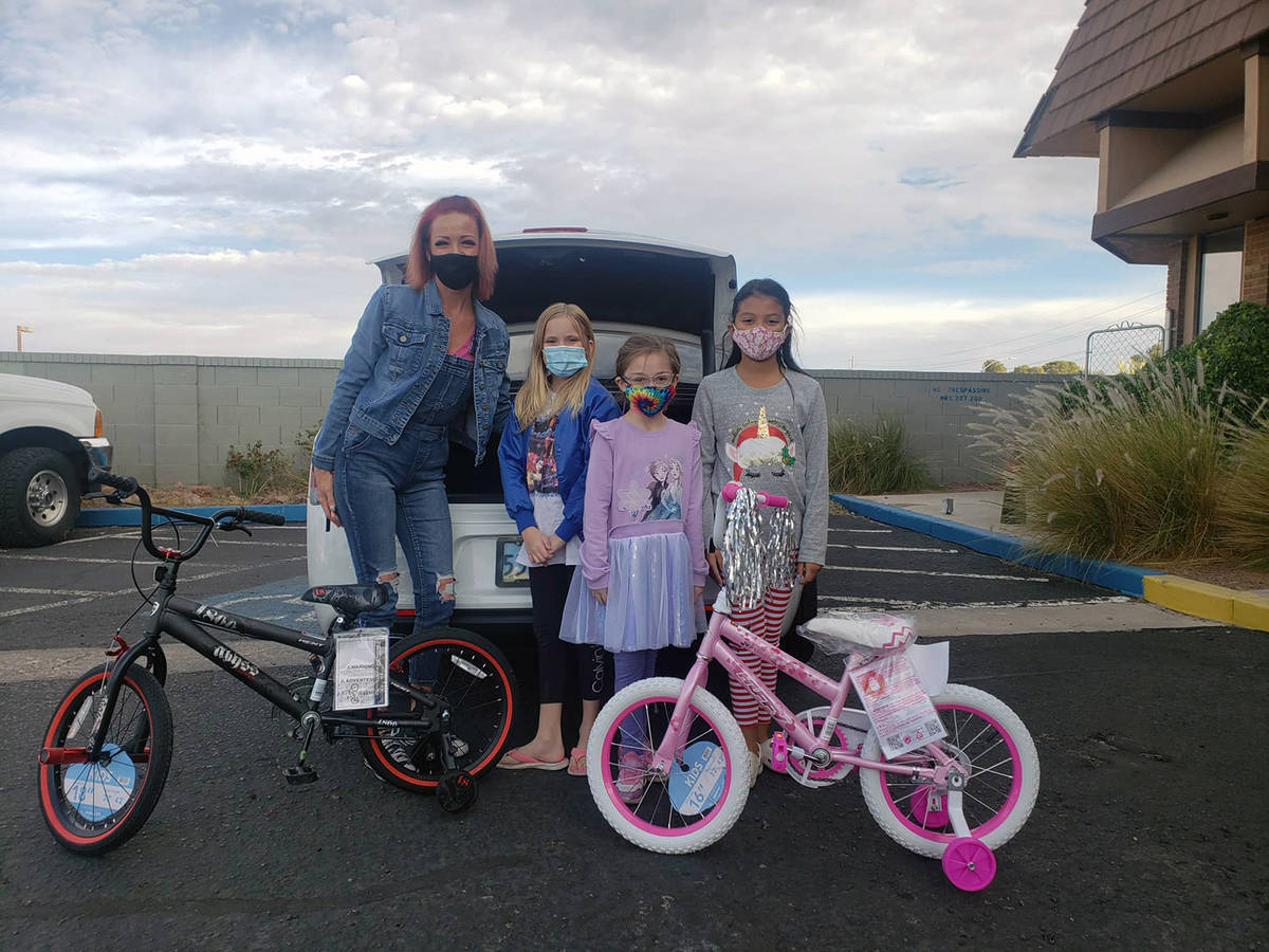 Special to the Pahrump Valley Times Avery Sampson and friends are shown posing with bicycles th ...