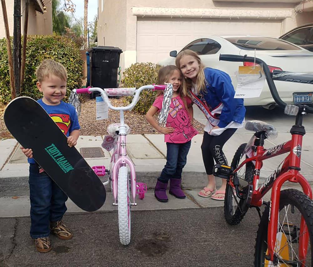 Special to the Pahrump Valley Times Pahrump youth Avery Sampson, at right, is on a mission to p ...