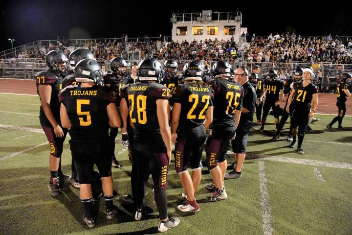 Peter Davis/Pahrump Valley Times file There are some good football players at Pahrump Valley Hi ...