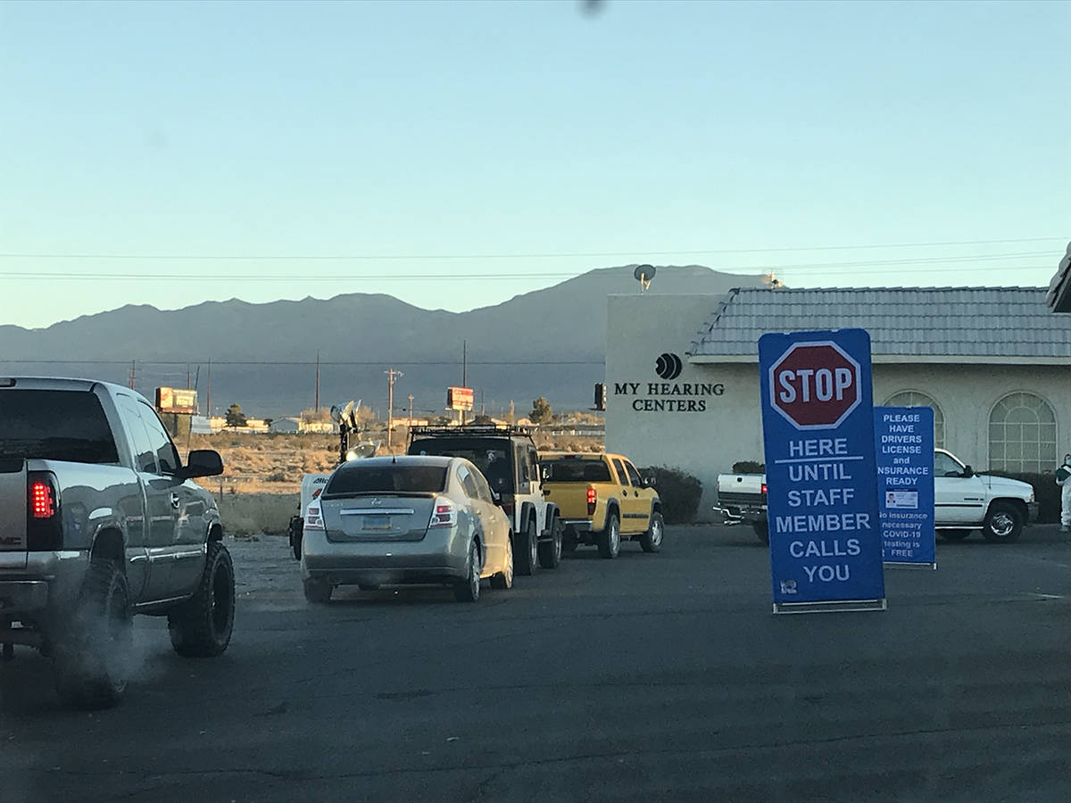Robin Hebrock/Pahrump Valley Times Taken earlier this month, this photo shows a small portion o ...