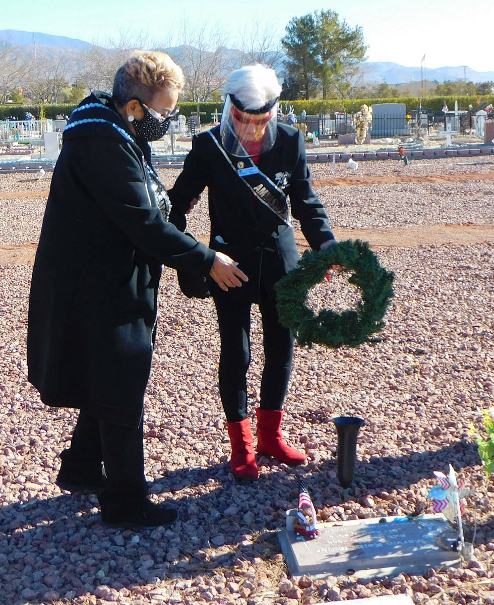 Robin Hebrock/Pahrump Valley Times Nevada Silver Tappers founder B.J. Hetrick-Irwin, right, and ...