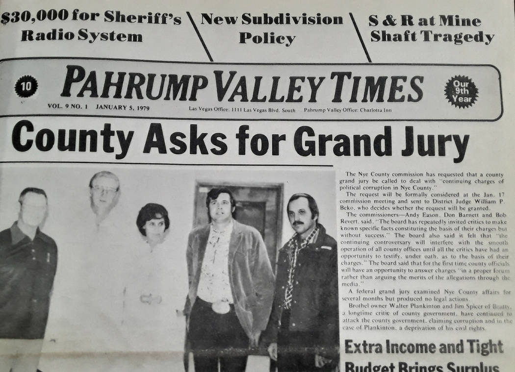 Selwyn Harris/Pahrump Valley Times The first issues of the newspaper were composed entirely by ...