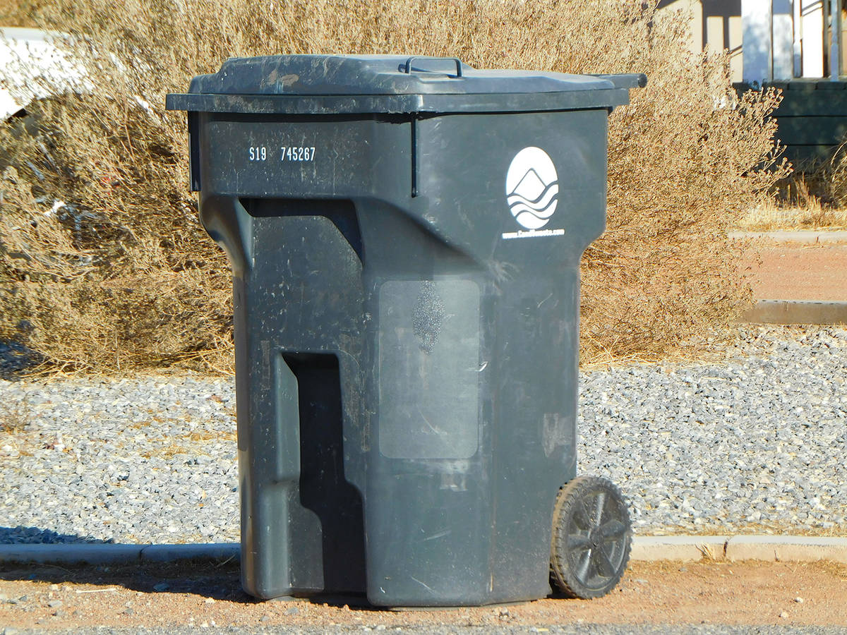 Robin Hebrock/Pahrump Valley Times Pahrump residents will now pay 19% more for garbage collecti ...
