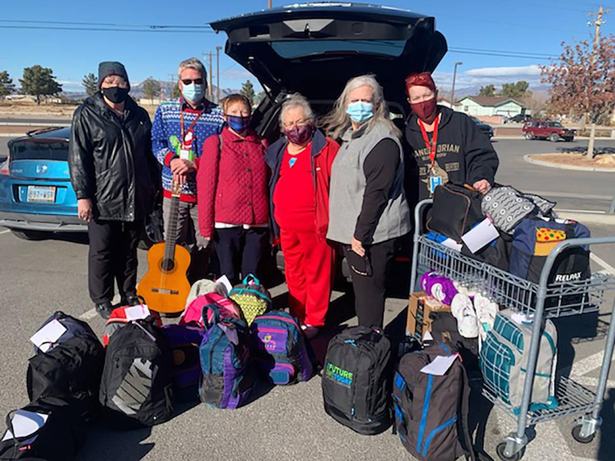 Rose Humbert/Special to the Pahrump Valley Times Pahrump Springs Chapter DAR members and Pahrum ...