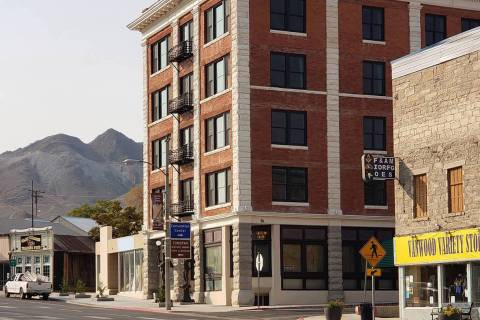 Nancy Whipperman/Special to the Pahrump Valley Times The Belvada Hotel is now officially open t ...