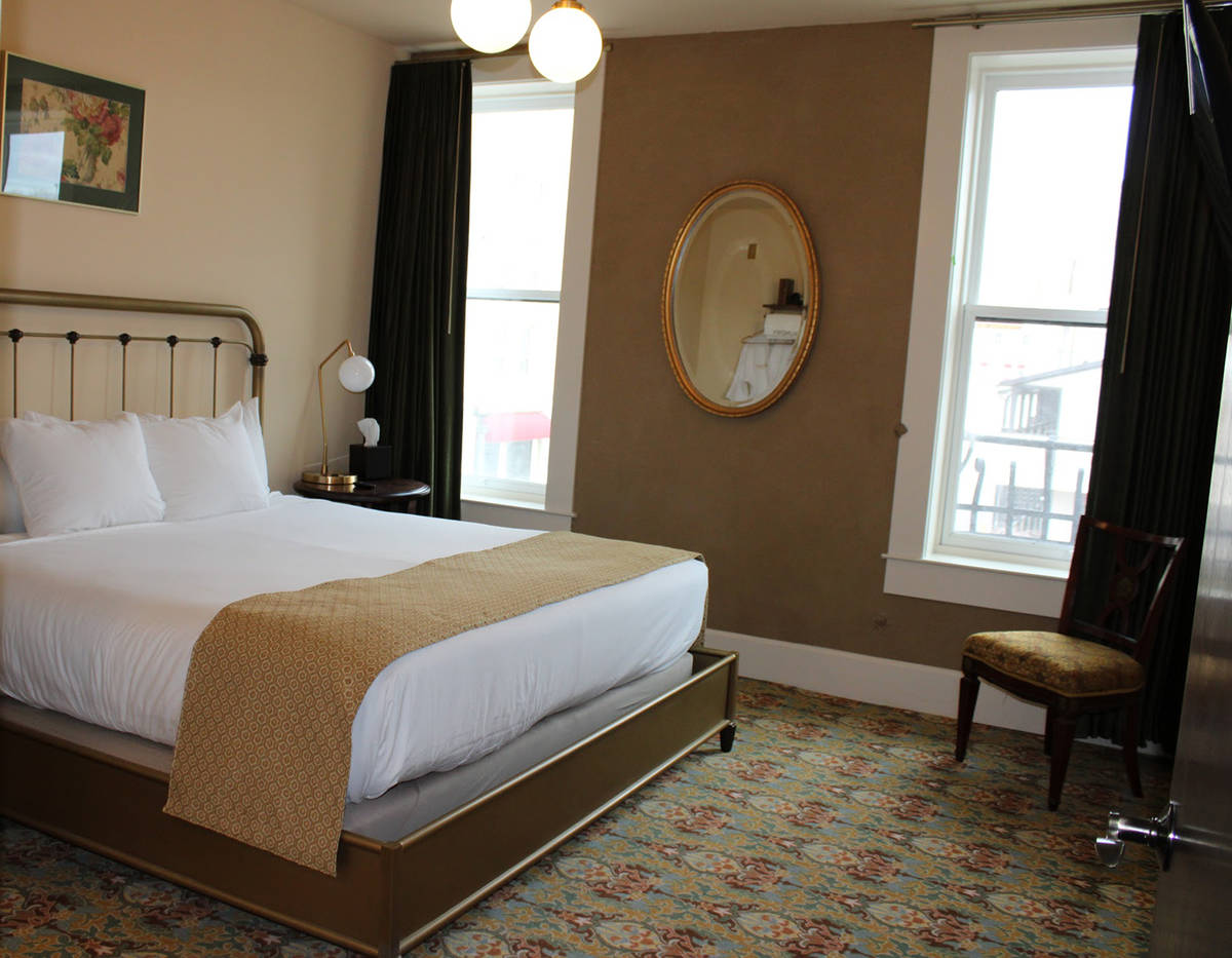 Dominique Taylor/Special to the Pahrump Valley Times A view of one of the hotel rooms in the ne ...