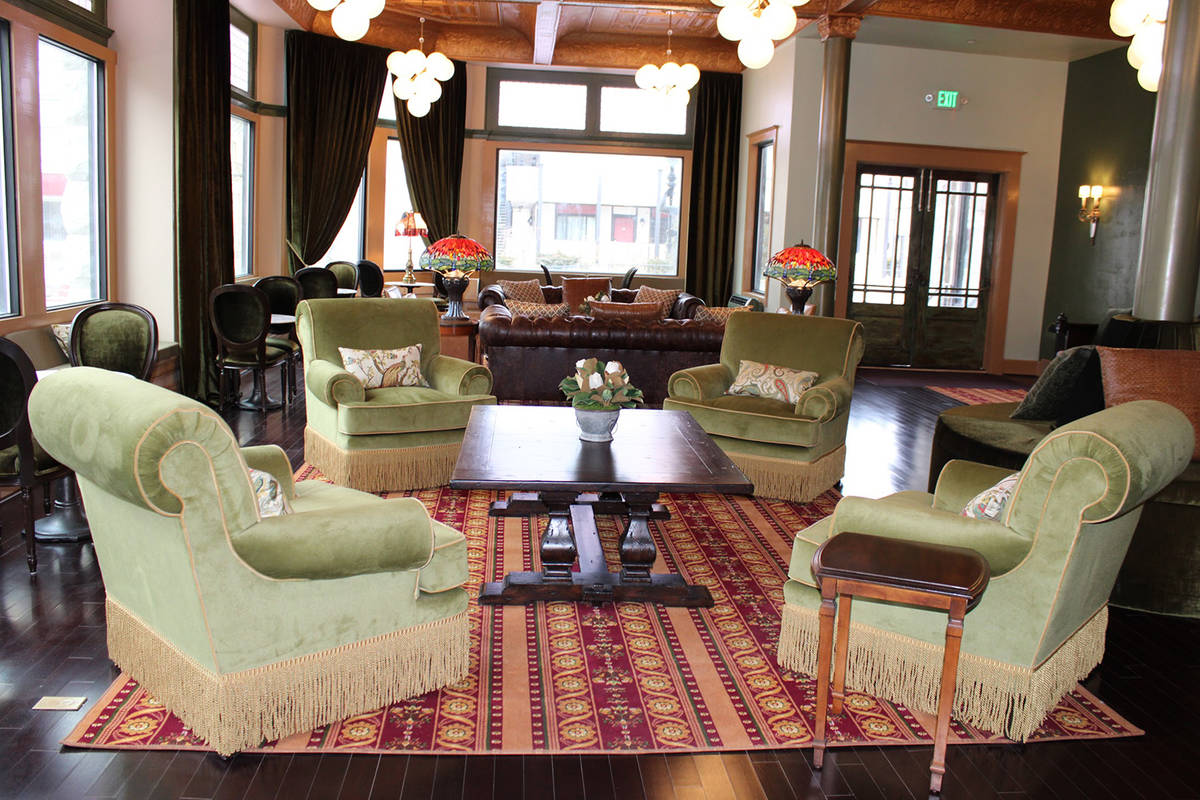 Dominique Taylor/Special to the Pahrump Valley Times The lobby of the Belvada Hotel is seen in ...