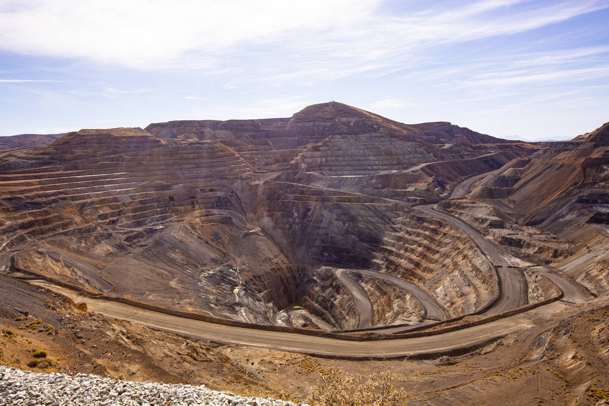 Chase Stevens/Las Vegas Review-Journal A view of an open pit mine at Nevada Gold Mines' Carlin ...