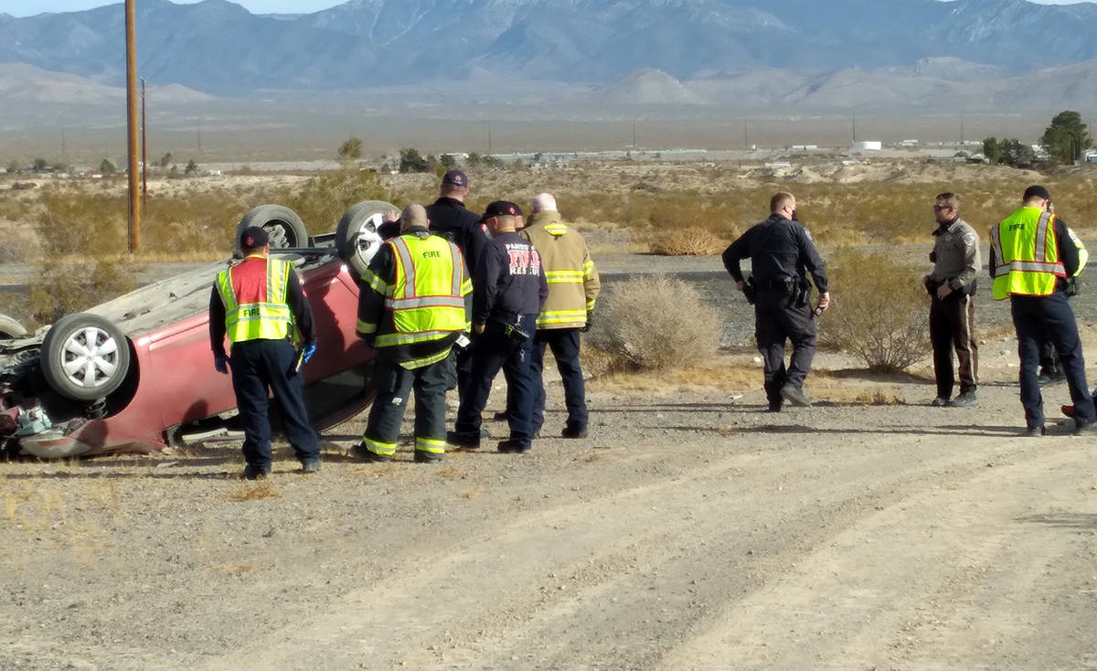 Selwyn Harris/Pahrump Valley Times Highway 160, north of Mesquite Avenue was the scene of a sin ...