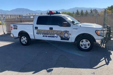 Photo courtesy of NCSO The fleet of Nye County Sheriff's Office vehicles now have new side-deca ...