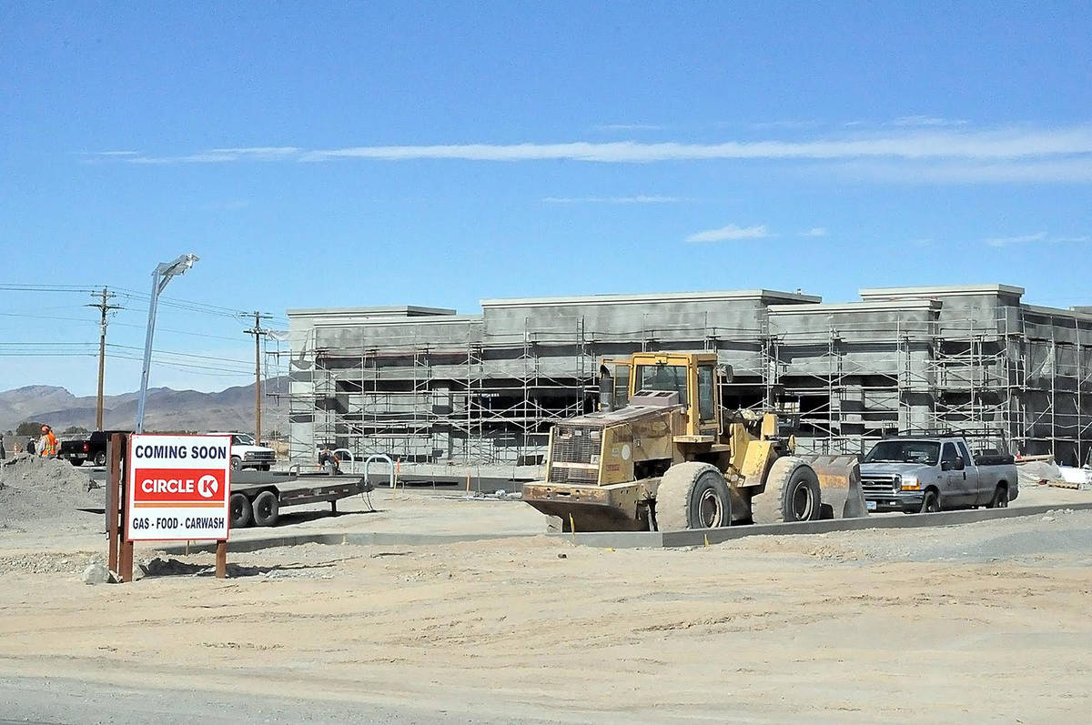 Horace Langford Jr./Pahrump Valley Times Taken Monday, Jan. 18, this photo shows the site at wh ...