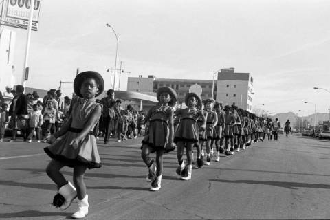 Las Vegas Review-Journal--file This Jan. 16, 1982, file photo shows a parade on D Street organi ...
