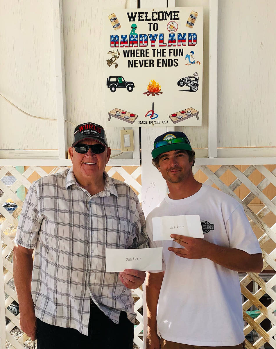Lathan Dilger/Special to the Pahrump Valley Times Dennis Andersen, left, and Jefferson Counts l ...