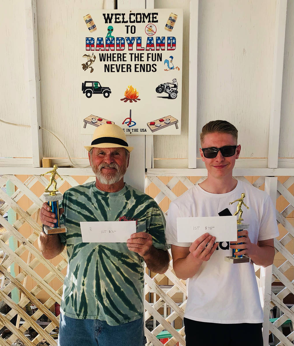 Lathan Dilger/Special to the Pahrump Valley Times Mike Nicosia, left, and Kasey Dilger show off ...